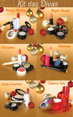 Novidade –  BlogShop Jackie M's Make Up: Kit Make das Divas Yes! Cosmetics‏