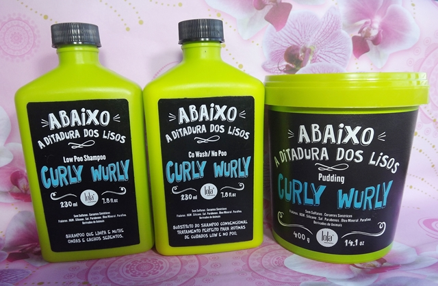 Resenha: Low Poo, Co Wash/No Poo e Pudding Curly Wurly Lola Cosmetics