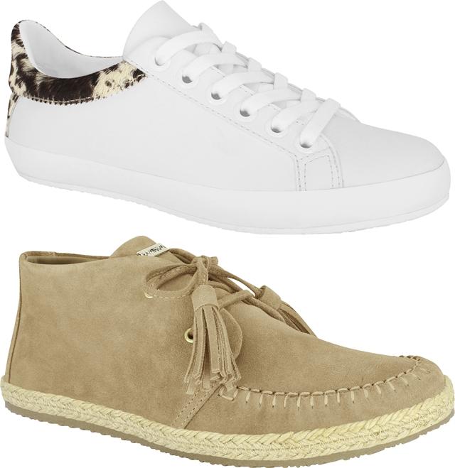 5ef5321a0 ... para o guarda-roupa feminino, como o tênis branco, tendência que  continua para o inverno 2016, as clássicas chelsea boots, calçados com  atitude jeans.