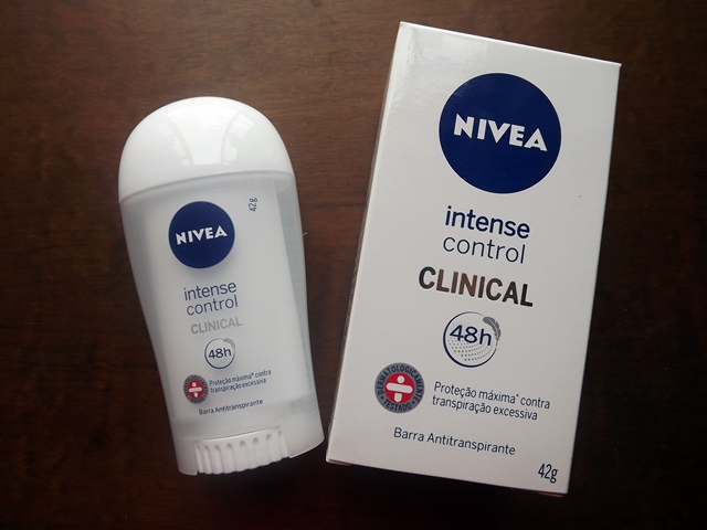 NIVEA Clinical Intense Control – Barra Antitranspirante | Resenha