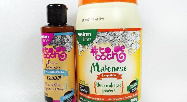 Maionese Capilar e Óleo de Umectação – Ebaaa! #todecacho Salon Line | Resenha