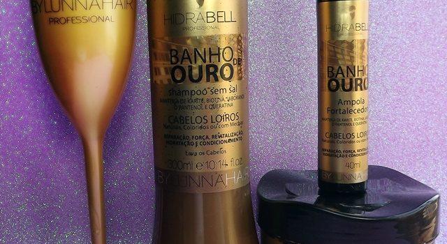 Banho de Ouro – Shampoo, Máscara e Ampola Restauradora Hidrabell