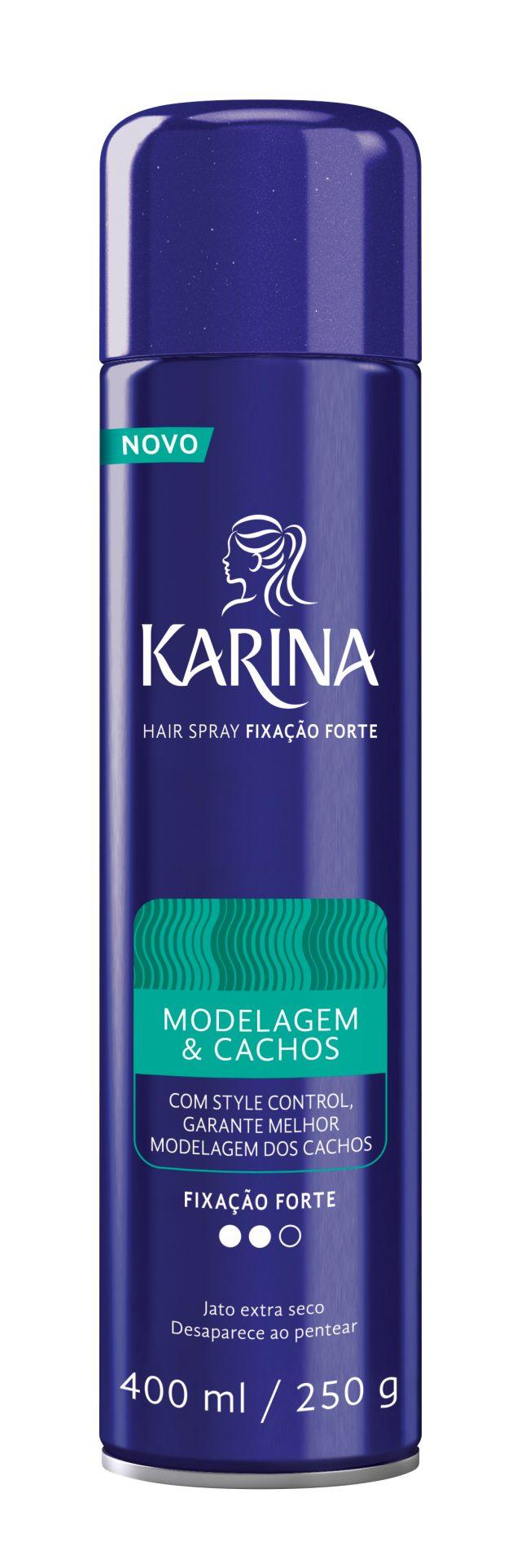Hair Spray Karina Modelagem & Cachos