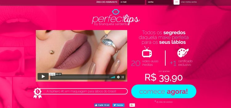 Curso Perfect Lips By Branquela Sardenta