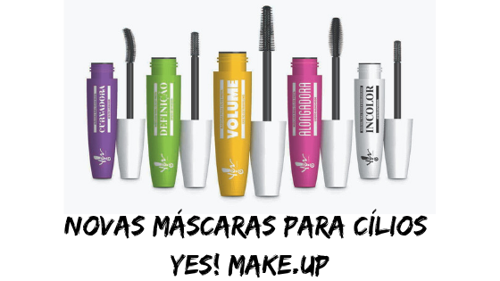 Novas Máscaras para Cílios Yes! Make.Up