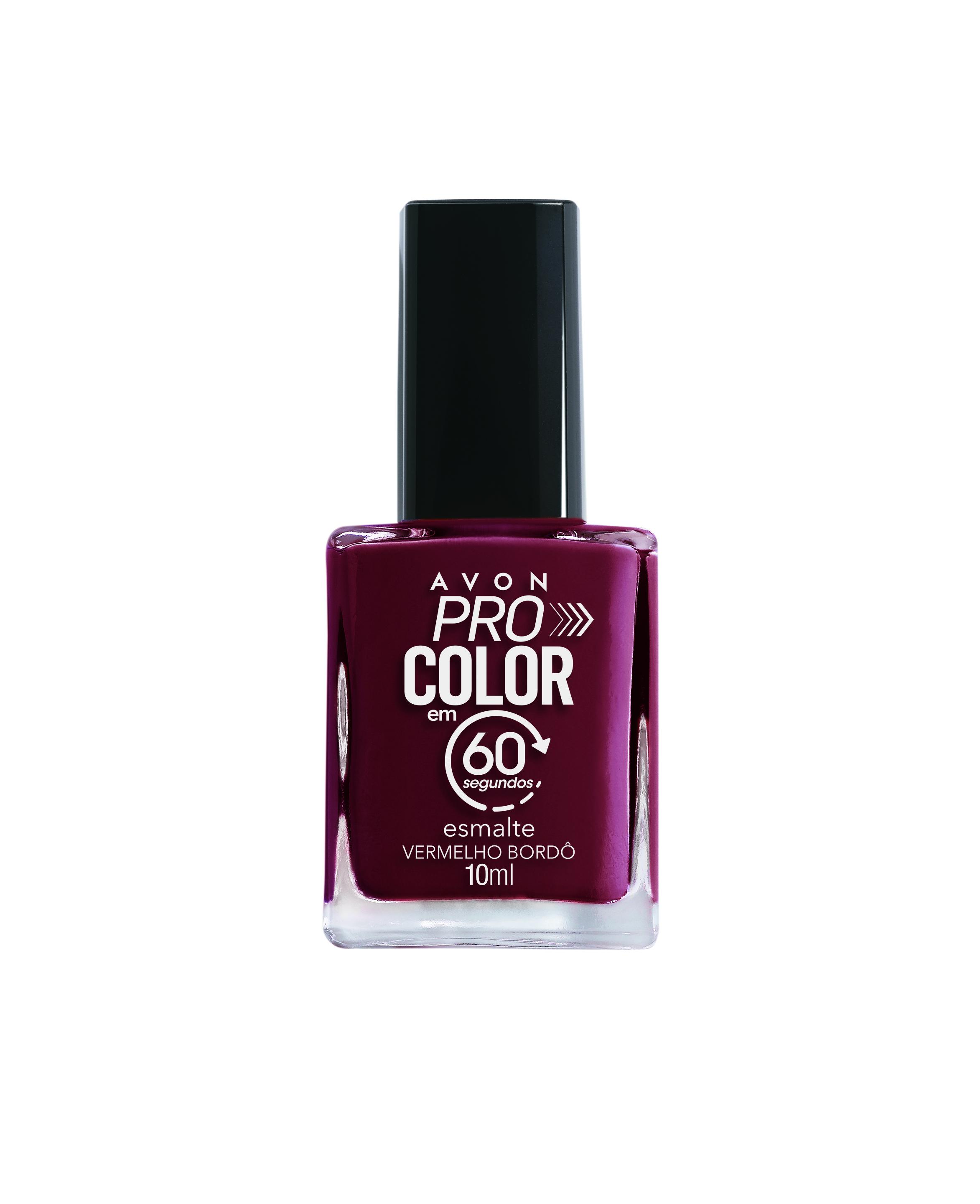 Avon Pro Color Esmalte 60s Bordô